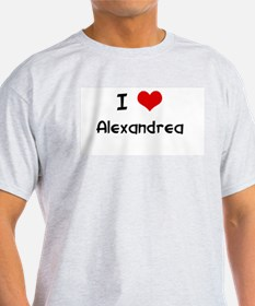 I LOVE ALEXANDREA Ash Grey T-Shirt