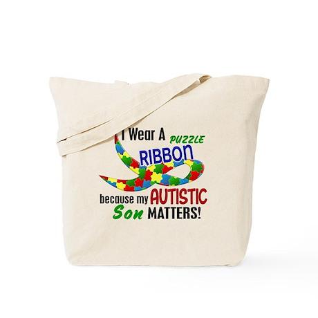 I Wear Puzzle Ribbon Son 33 Tote Bag
