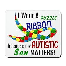 I Wear Puzzle Ribbon Son 33 Mousepad