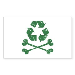 Recycling Pirate Rectangle Decal