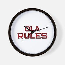 ola rules Wall Clock