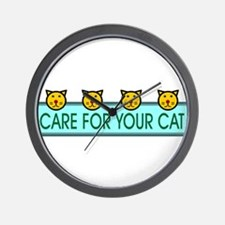 Care For Your Cat Wall Clock