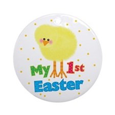 My 1st Easter Chick Ornament (Round)