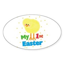 My 1st Easter Chick Oval Decal