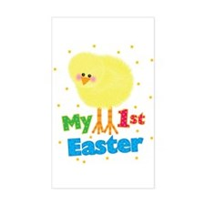 My 1st Easter Chick Rectangle Decal