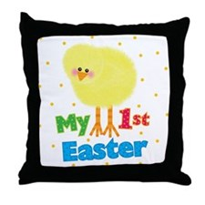 My 1st Easter Chick Throw Pillow