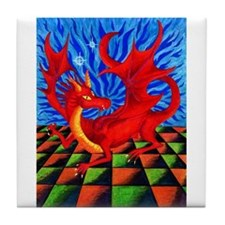Red Dragon - Tile Coaster