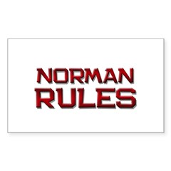 norman rules Rectangle Decal