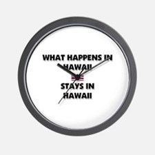 What Happens In HAWAII Stays There Wall Clock