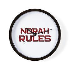 norah rules Wall Clock