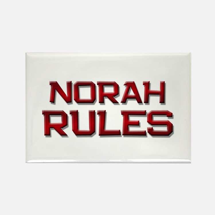 norah rules Rectangle Magnet