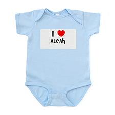 I LOVE ALEAH Infant Creeper