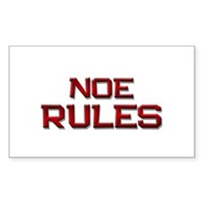 noe rules Rectangle Decal