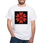 Orange Lily II White T-Shirt