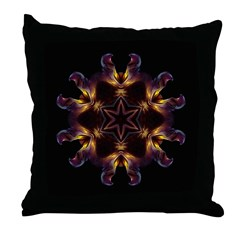 Dying Pansy I Throw Pillow