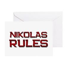 nikolas rules Greeting Card