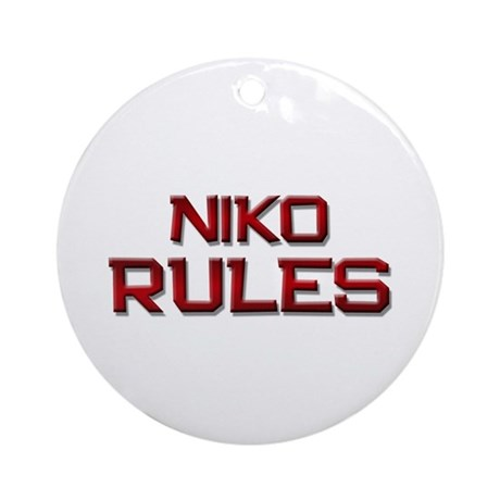 niko rules Ornament (Round)