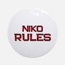 niko rules Ornament (Round)