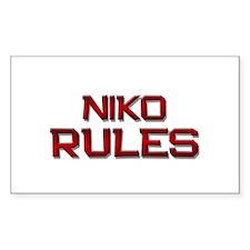 niko rules Rectangle Decal