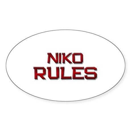 niko rules Oval Sticker
