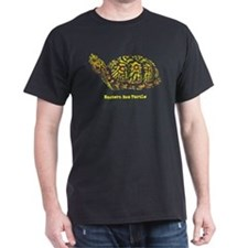 Eastern Box Turtle On Black T-Shirt