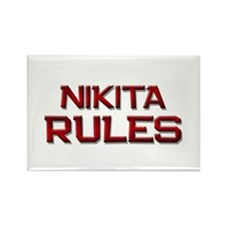 nikita rules Rectangle Magnet (10 pack)