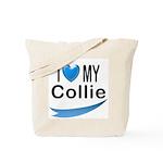 I Love My Collie Tote Bag