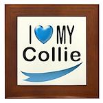 I Love My Collie Framed Tile