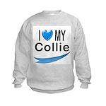 I Love My Collie Kids Sweatshirt