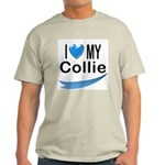 I Love My Collie Ash Grey T-Shirt
