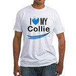 I Love My Collie Fitted T-Shirt