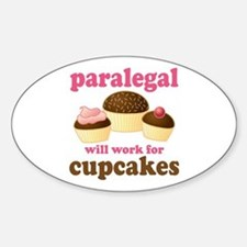 Funny Paralegal Oval Decal