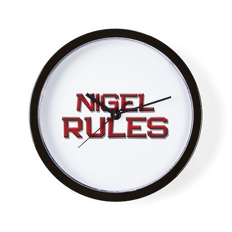 nigel rules Wall Clock