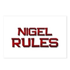 nigel rules Postcards (Package of 8)