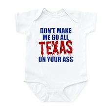 Texas Baseball Infant Bodysuit
