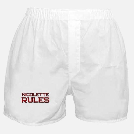 nicolette rules Boxer Shorts