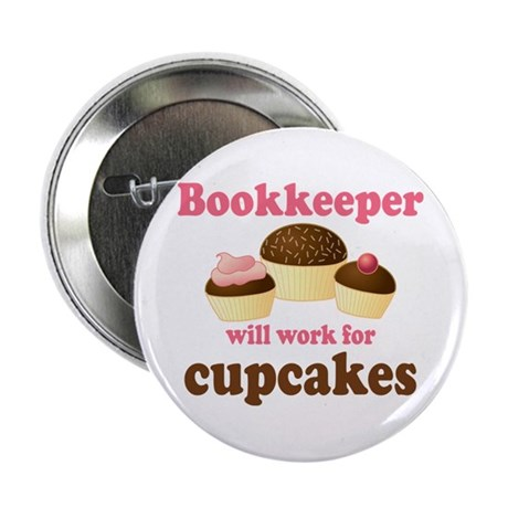 """Funny Bookkeeper 2.25"""" Button"""