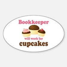 Funny Bookkeeper Oval Decal