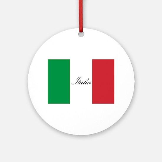 Italian Flag - Flag of Italy - Ital Round Ornament