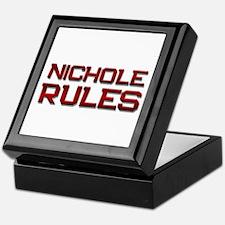nichole rules Keepsake Box