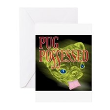 Pug Possessed Greeting Cards (Pk of 10)