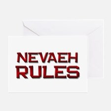 nevaeh rules Greeting Card