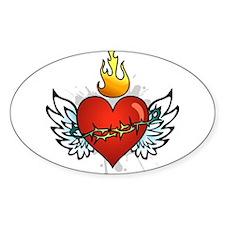 Sacred Heart Oval Decal