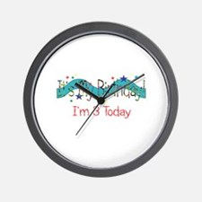 Birthday Three Wall Clock