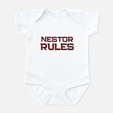 nestor rules Infant Bodysuit
