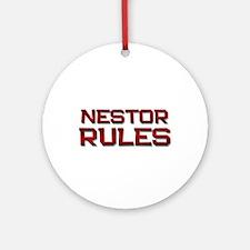 nestor rules Ornament (Round)