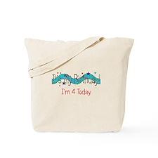 Four Birthday Tote Bag