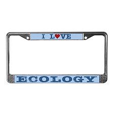 I Love Ecology License Plate Frame
