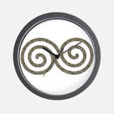 Ancient Stone Spiral Wall Clock