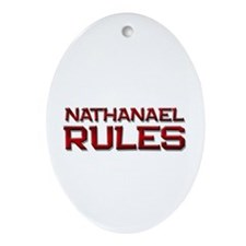 nathanael rules Oval Ornament